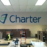 Charter vinyl - office and lobby sign